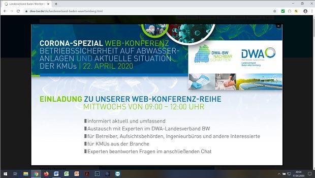 Dwa Baden Wurttemberg Erste Webkonferenz Corona Spezial War Grosser Erfolg